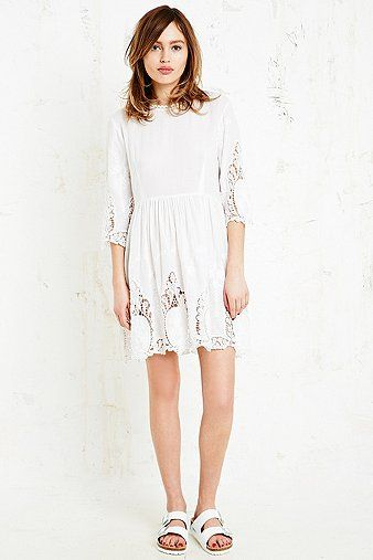 Little White Lies Saige Lace Insert Dress in White