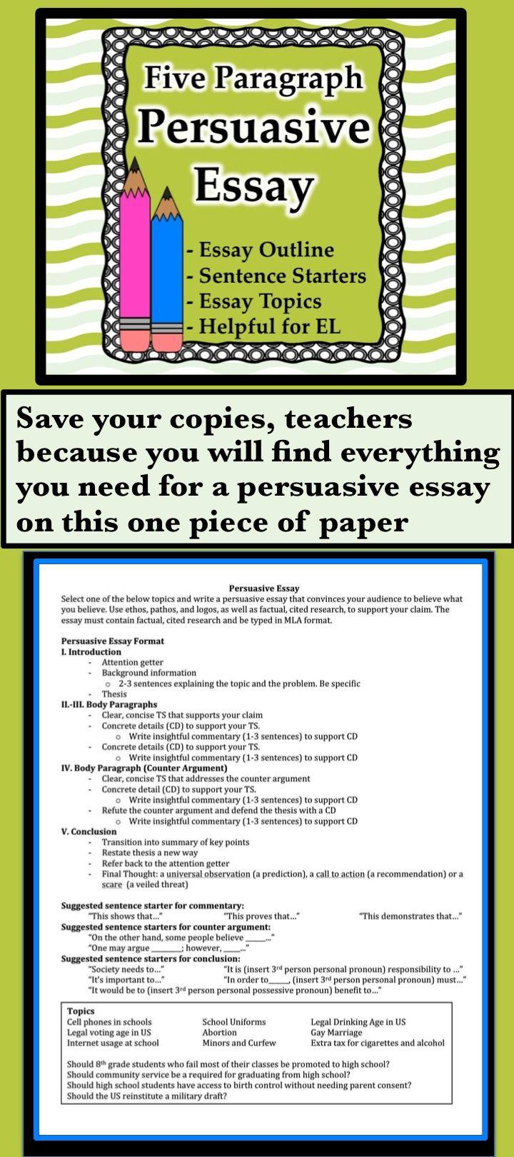 Essay writing sentence starters name