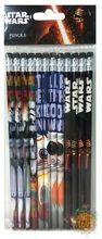 Star Wars Episode VII Brown/Blue/Black Wooden Pencils Pack of 12