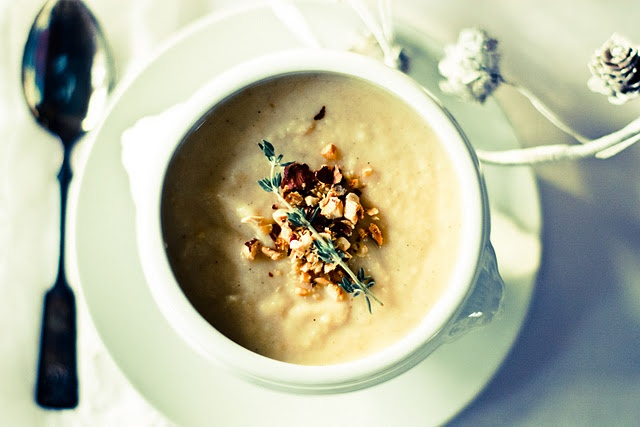 Roasted parsnip soup with toasted hazelnuts, from Feasting at Home (written by Feast Catering in Spokane!): Stew, Soups, Apple Soup, Parsnip Apple, Recipe, Roasted Parsnip, Parsnip Soup