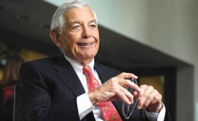 Hugh McColl A skilled business man from North Caroiina His Father started what would  become Bank of America and he would be it's CEO until his retirement.  I admire his willingness to give back starting a business school at Queens college In Charlotte NC  http://www.queens.edu/Academics-and-Schools/Schools-and-Colleges/McColl-School-of-Business.html