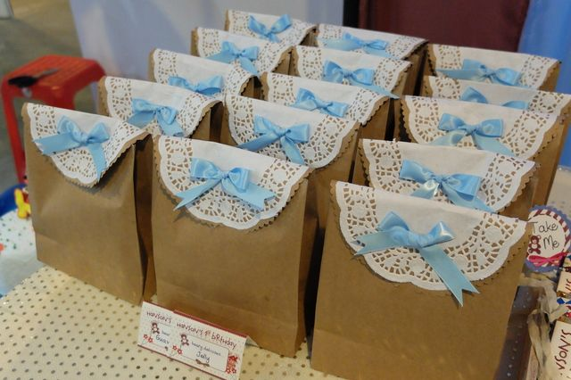Pretty favor bags at a boy 1st birthday party! See more party ideas at CatchMyParty.com! #partyideas #1stbirthday