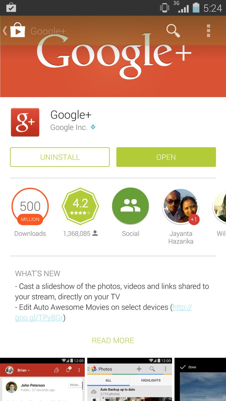 Google+ Android App Update Released!