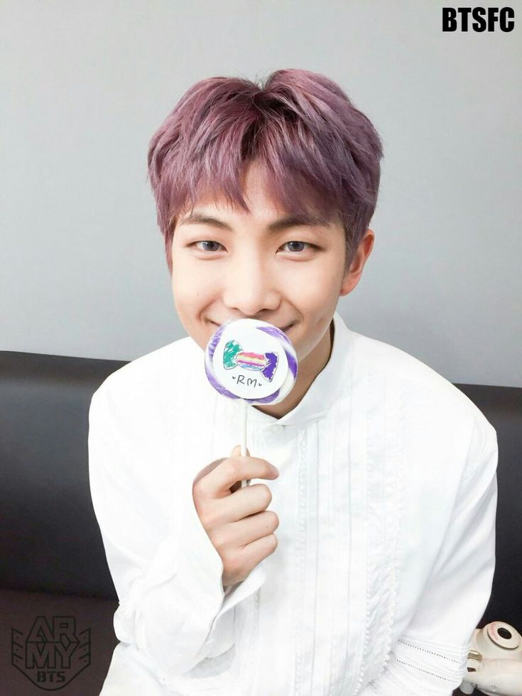 Rap Monster with candy