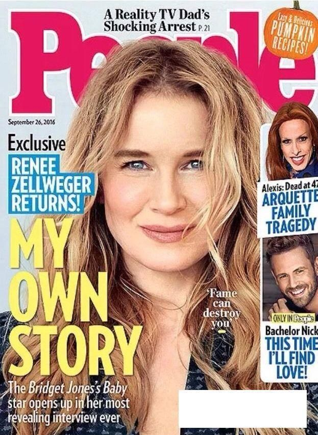 People Magazine September 26, 2016 NEW Sept Renee Zellweger Bachelor Nick Alexis #PeopleMagazine