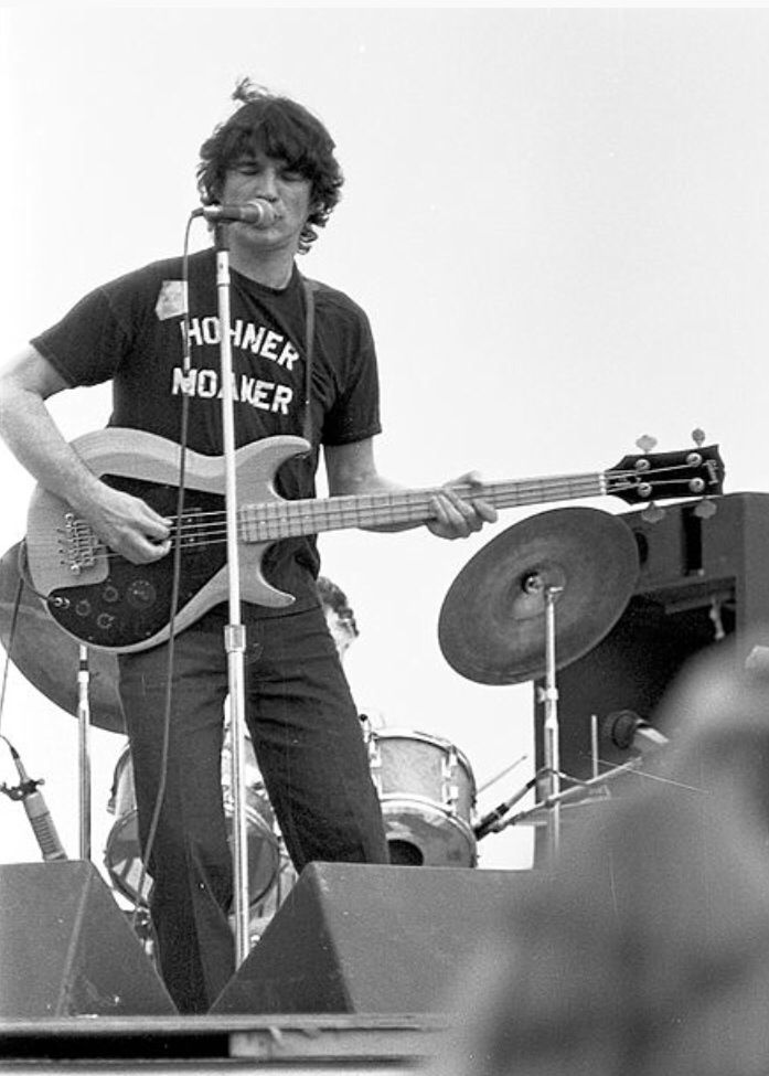 Rick Danko, Woodstock Reunion, Sept. 7 1979.  75 Gibson Ripper Bass.