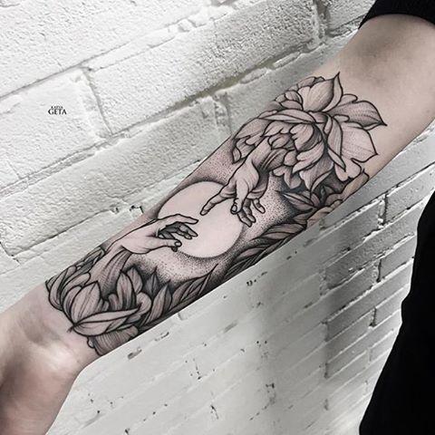 by @katyageta #tattoo#michaelangelo