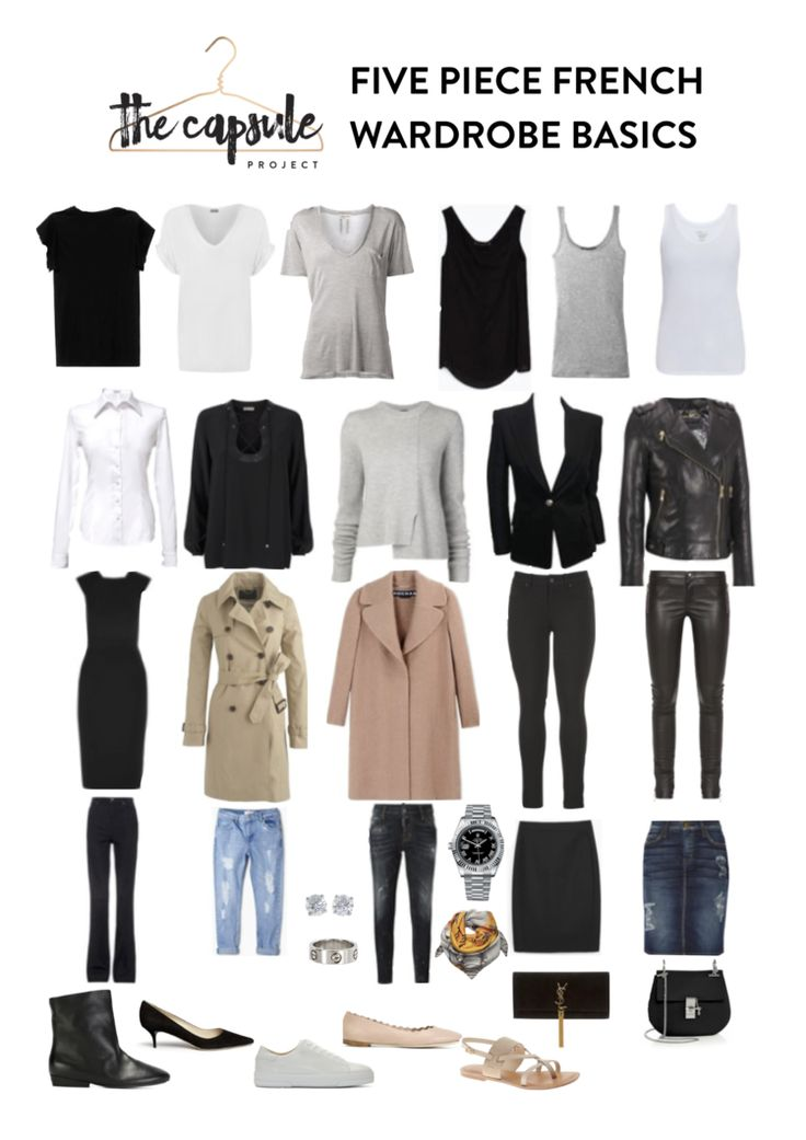 The Five Piece French Wardrobe – Fall 2015 Edition