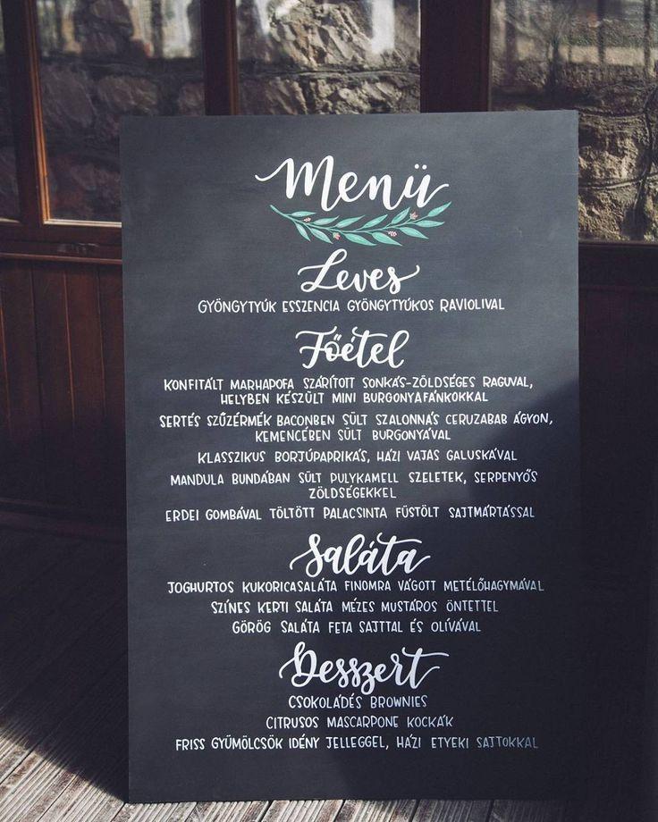 DEKORTÁBLA Wedding menu sign  Menütábla esküvőre  chalkboard  krétatábla