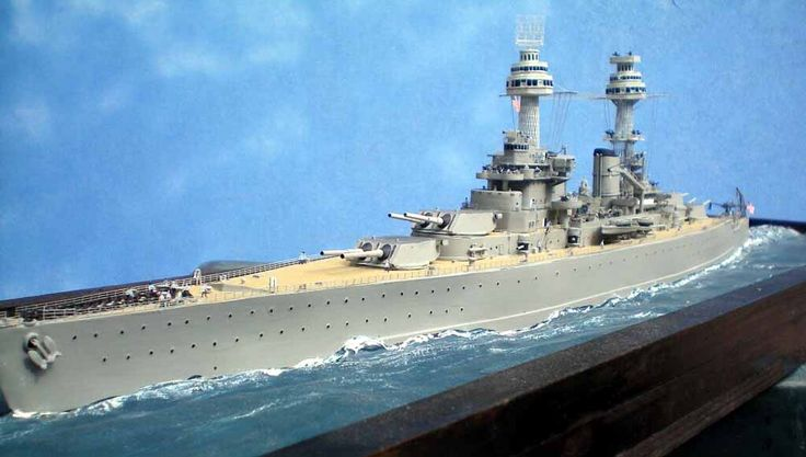 Lexington-class battlecruiser, 1/350 scratchbuilt scale model by Andy Bradshaw
