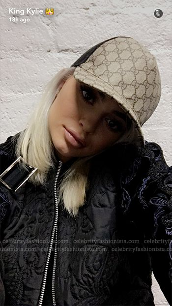 Kylie Jenner wearing a Gucci GG Supreme Baseball Hat https://api.shopstyle.com/action/apiVisitRetailer?id=523602694&pid=uid7729-3100527-84. #style #celebstyle Gucci #hats #snapchat
