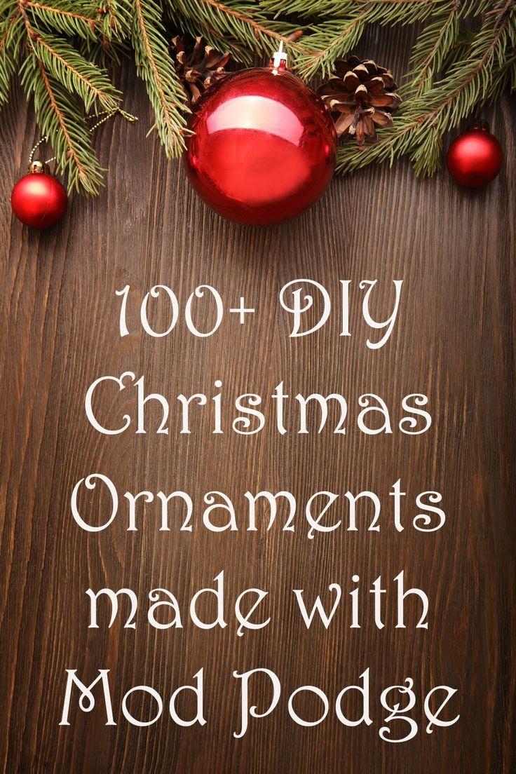 Music christmas ornaments - Diy Christmas Ornaments Made With Mod Podge