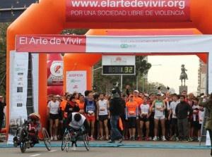 """Hoy Domingo 26 de agosto se realizó una maratón diferente bajo el lema """"Tu meta: ¡Ahora!"""" , Correr por deporte. Correr por pasión. Correr por el desafío…  Y, entre los motivos para encarar un maratón, anotá correr por la paz. Porque la fundación El Arte de Vivir organizó el primer maratón por la paz mundial, no comercial, que comenzó a las  9 hs en el barrio de Palermo, en Sarmiento y Figueroa Alcorta."""