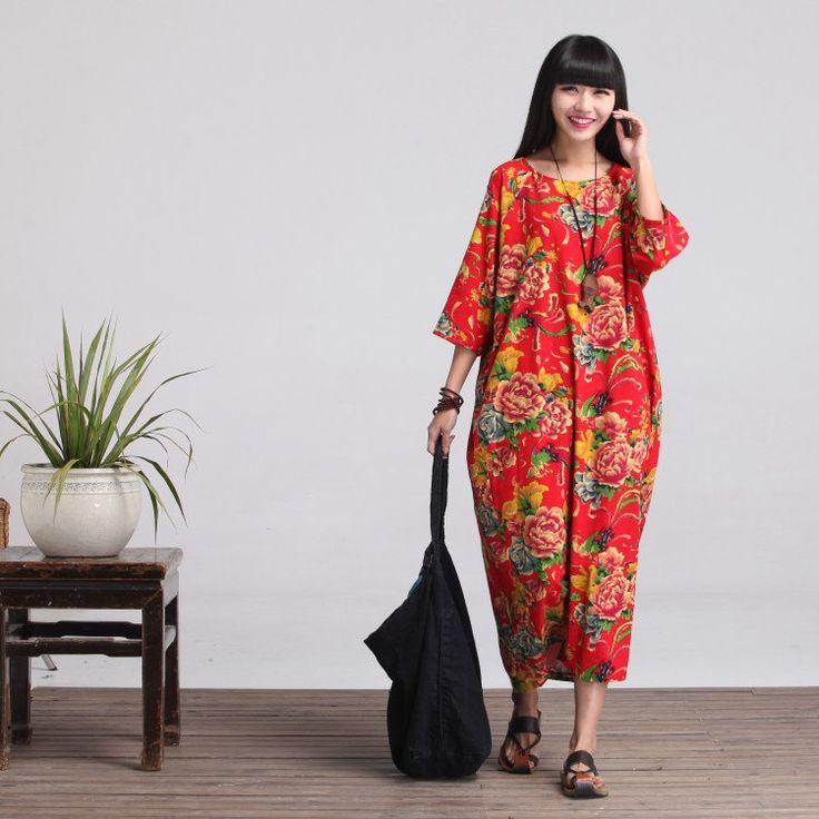 Loose Fitting Long Maxi Dress Gown Women Dress by deboy2000