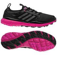 Adidas Ladies Adistar Climacool Golf Shoes - Black/Carbon/Bahia Magenta