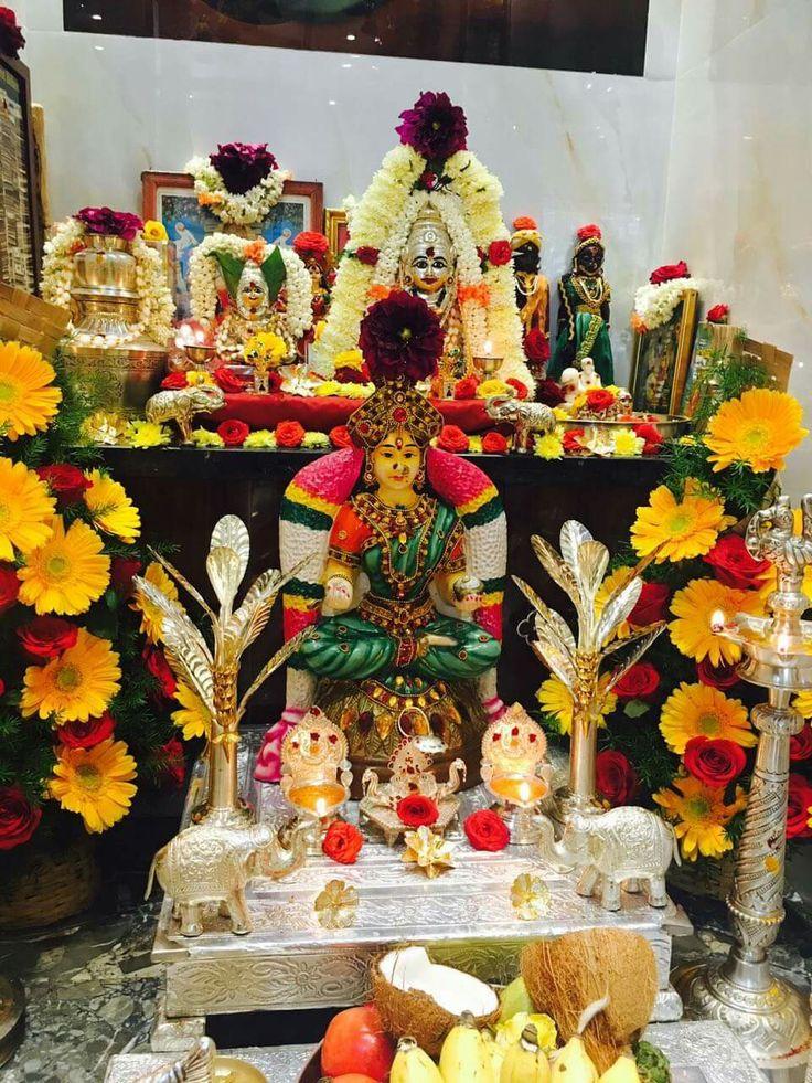 Varalakshmi decoration 32 best Puja decoration images