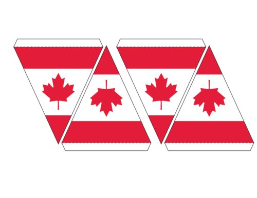 FREE PRINTABLE with this PAGE. CLICK. Canadian Flag Maple Leaf Bunting. Get ready for 150 Canada birthday. Click to sign up for more exclusive Canada day activities. #CanadaDay150
