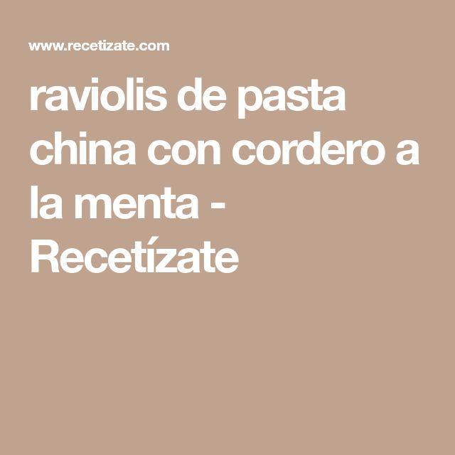 raviolis de pasta china con cordero a la menta - Recetízate