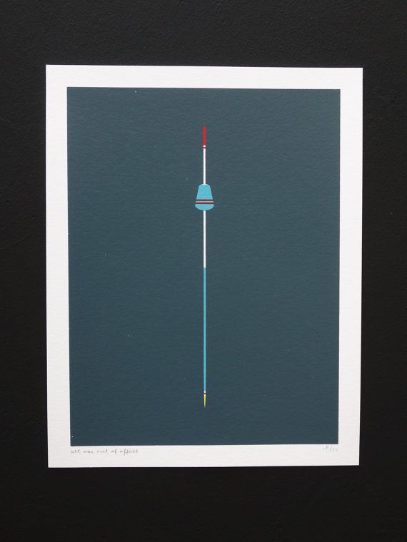 Handmade 4 Color Screenprint of a Grey Floater by weareoutofoffice