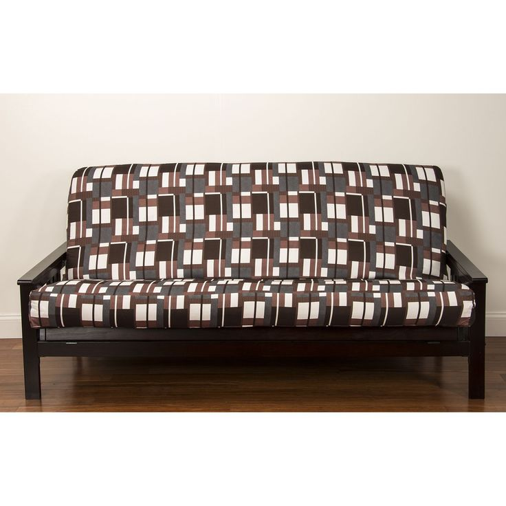 Siscovers Plaid Men Futon Cover Full 7 Black