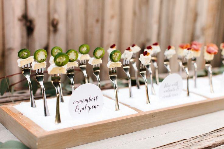 cheese fork wedding display idea - tomkat studio