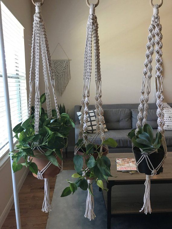 Macrame Plant Hanger Macrame Hanger Knitting Projects Macrame