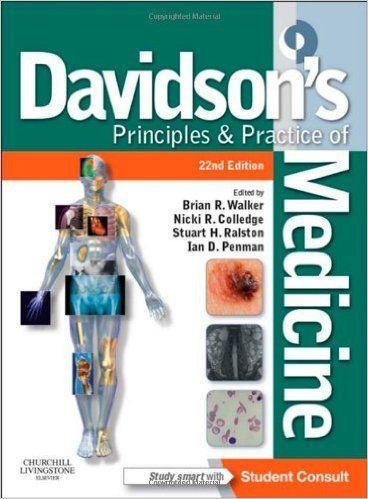 Book Details      Series: Principles & Practice of Medicine (Davidson's)    Paperback: 1394 pages    Publisher: Churchill Livingst...