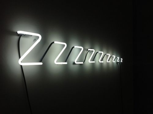 Neon Zzzz Sleep Lights | Hanging Wall Art | Light Up Sign | Typography | Glowing Text | Words | Word Decor