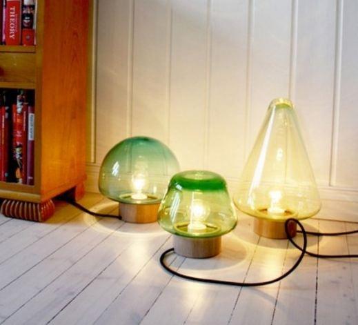 singolari lampade in vetro