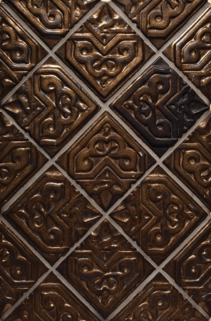 "Decorative Picture Tiles Custom Granada Color Hammered Bronze 4X4"" Decorative Tiles  Alhambra 2018"