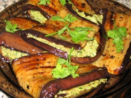 Рецепт - Баклажаны с орехами