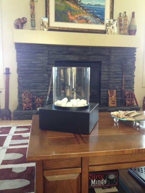 This Table Top Ethanol Fireplace Is Great If You Like To Move Things Around!