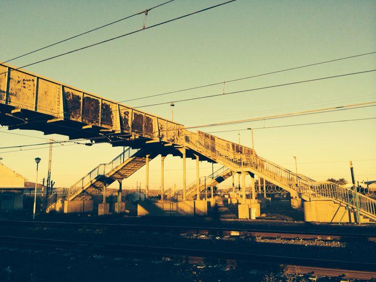 Prins Albert Weg train station in the Karoo desert, South Africa