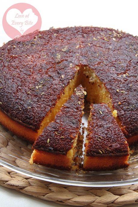 Torta Brasiliana Bolo de Fubà, Brazilian Cornmeal cake Bolo de Fubà