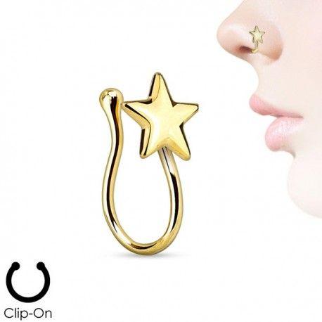 Faux Piercing Nez Plaqué-or étoile https://piercing-pure.fr/p/464-faux-piercing-nez-plaque-or-etoile.html #fauxpiercingnose #fauxpiercingstar #star #fauxpiercing