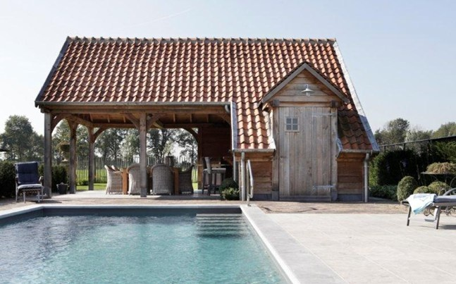 Poolhouse Timeless Wood
