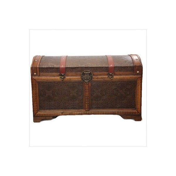 Amazon.com: Victorian Retro Steamer Storage - Trunk 6989: Furniture &... (250 BRL) ❤ liked on Polyvore featuring home, home decor, small item storage, furniture, fillers, trunks, luggage, boxes, retro home decor and storage boxes