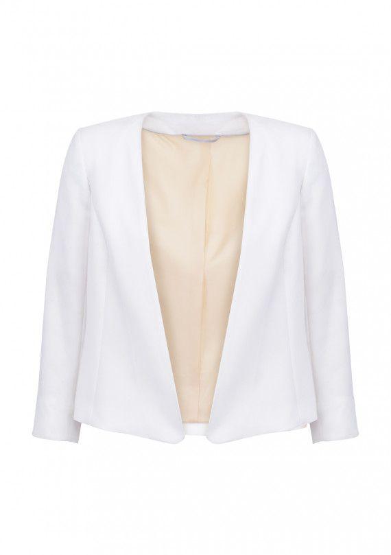 veste tailleur courte blanc femme