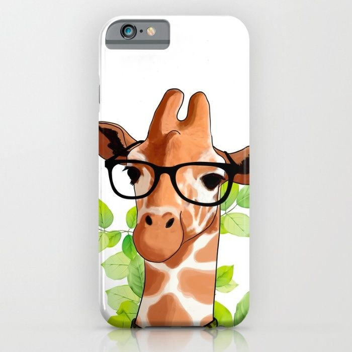 Hipster Giraffe iPhone & iPod Case by JumperCat   Society6