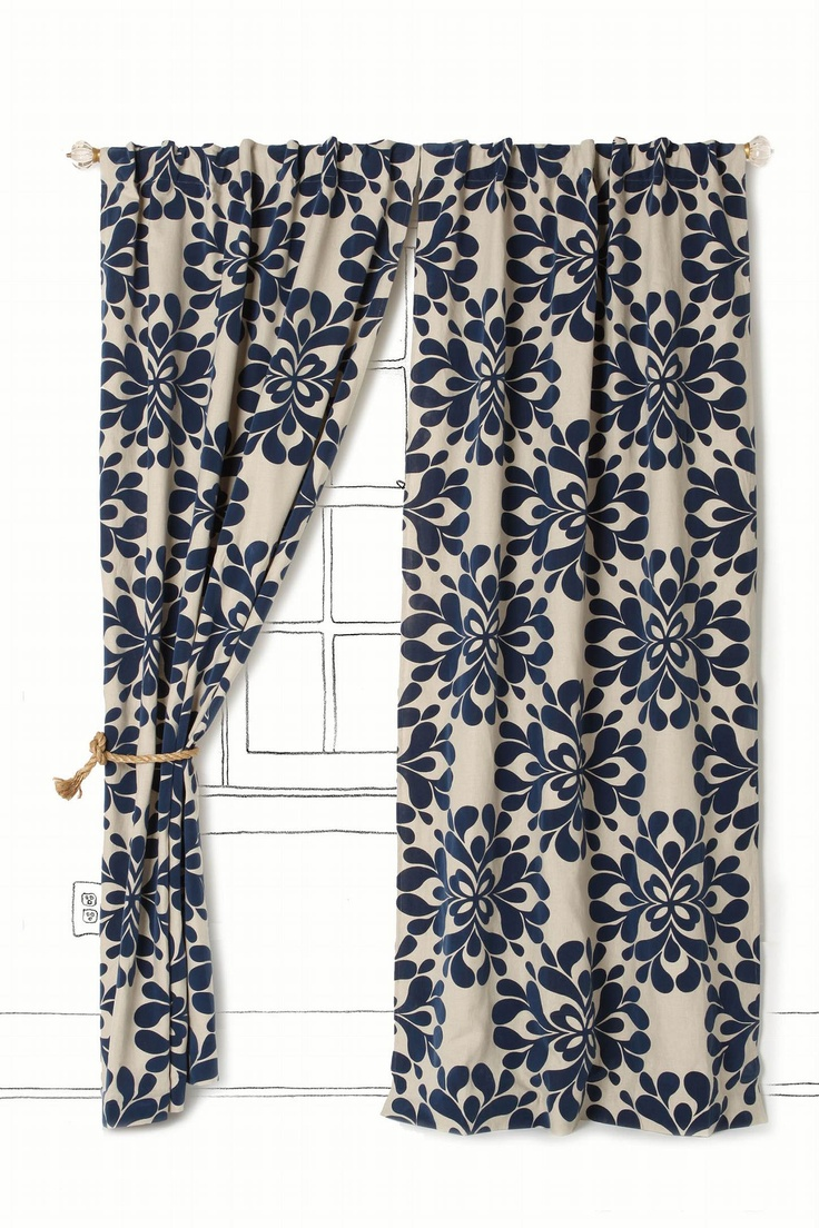 Dark blue and white curtains - Dark Blue And White Curtains