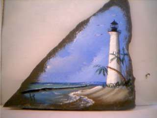 Key West Florida Lighthouse Hand Painted on by LighthouseGallery, $14.00
