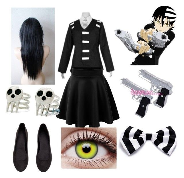 """""""female Death The Kid Cosplay"""" by animekitten101 ❤ liked on Polyvore featuring beauty and H&M"""