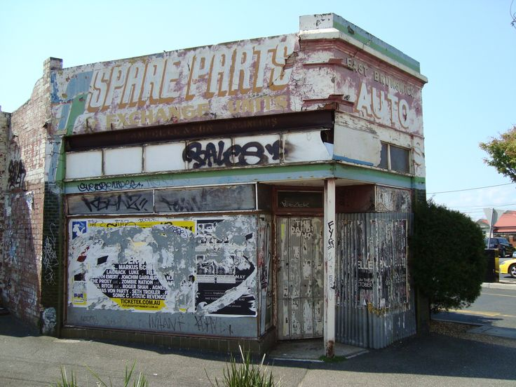 Old service station Brunswick, Melbourne, Australia