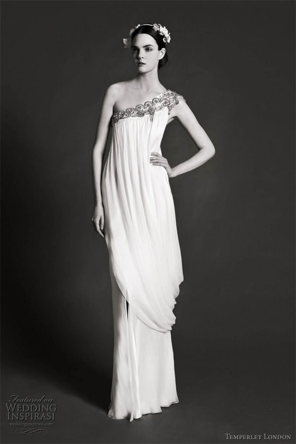 231 best greek inspired fashion images on pinterest for Grecian goddess wedding dresses