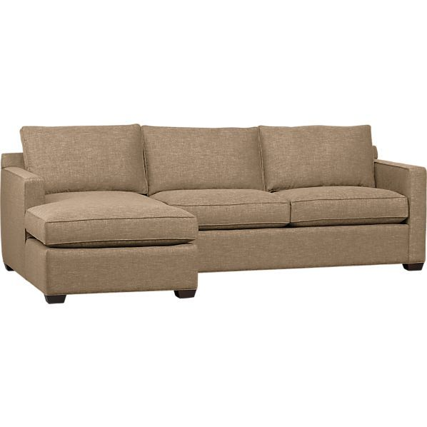 Davis 2-Piece Sectional Sofa in New Furniture | Crate and Barrel  this style but leather in great room?