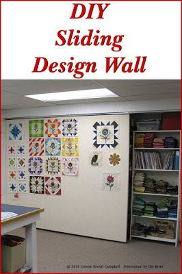 DIY Sliding Design wall for your quilt or craft studio at Freemotion by the River
