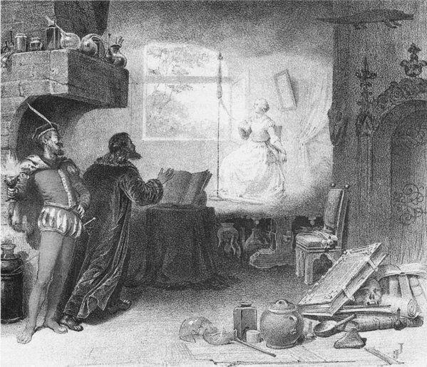 Representación del Fausto de Goethe, 1829.