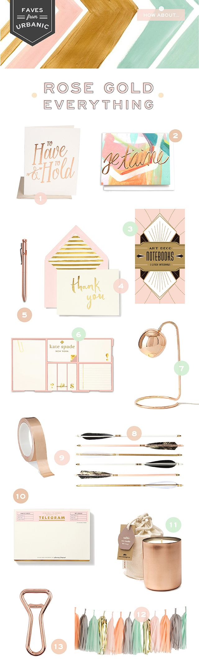 Love seeing our je'taime card included on the urbanic faves | rose gold everything for OSBP. Shop it here: http://www.thimblepress.com/product/je-taime-card/