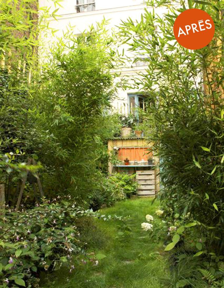 Transformer une arrière-cour en jardin dans Paris 19e après - Avant/Après : relooking de terrasses - Elle Décoration