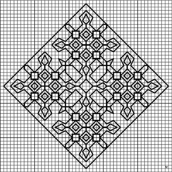 free biscornu patterns instructions
